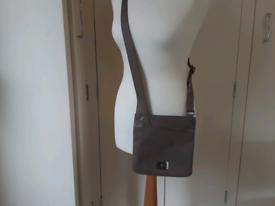 Taupe RADKEY embossed leather bag