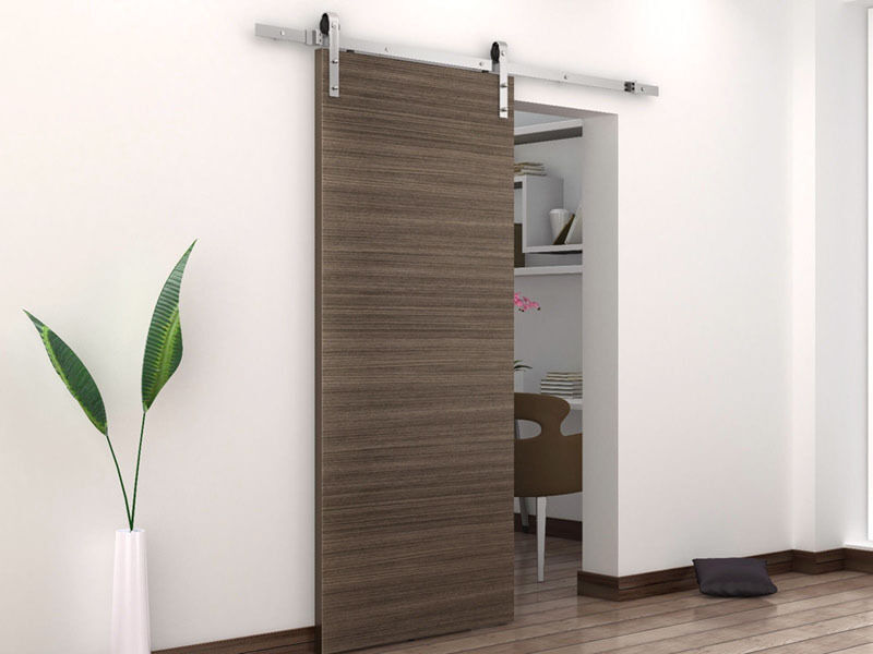 how to install sliding barn door hardware ebay. Black Bedroom Furniture Sets. Home Design Ideas
