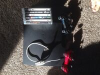 PS3 slim, 500gb, 6 games, 2 controllers and headset