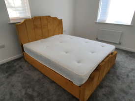 King size bed & mattress (New)