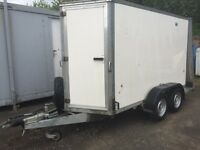 Ifor Williams box trailer BV105 G 10ft x5ft x 6ft twin wheels ramp tailgate ( no vat )
