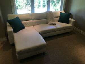 White L-shape Couch