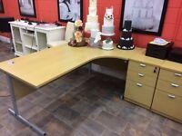 Office desk and side drawer