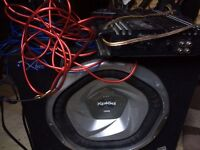 Sony sub 1300w amp and wiring kit