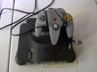 Nintendo N64 Console System with Controller and AC Adapter