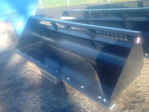 SKIDSTEER SNOW BUCKETS, ALL SIZES, CANADIAN BUILT
