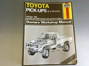 1979-1988 Toyota Trucks & 4-Runner SR5 Shop Manual 20R 22R V6