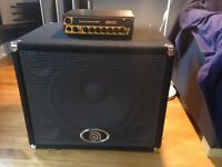 Markbass Little Mark 250 amp with Ampeg BSE 115T Cab