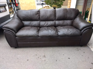 3 Seater Leather Couch