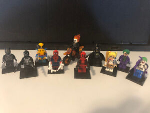 DEADPOOL All 10 Marvel Comic Movie Lego Men Action Toy Figures