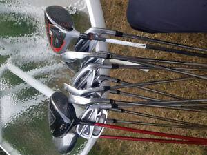 A bunch of golf clubs!