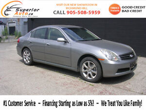 2005 Infiniti G35x Sedan- we finance-- all wheel drive