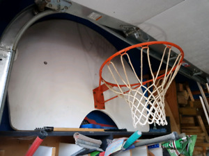 Basket ball net attached to backboard