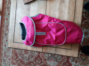 """Small """"Think Pet"""" dog coat and small dog crate for sale. $30.00"""