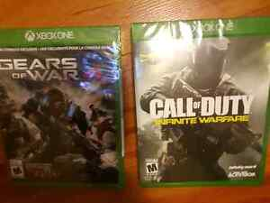 Gears of War 4 and Cod Infinite (Xbox One)