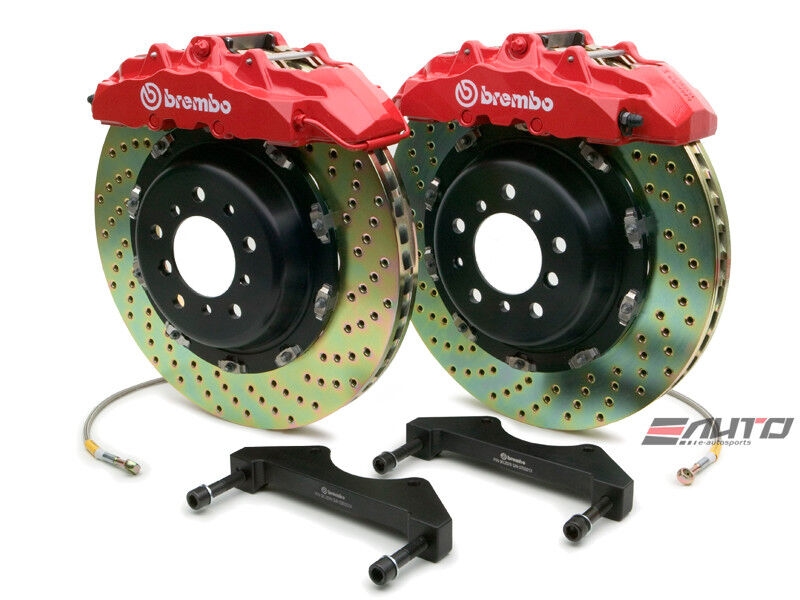 Brembo Front Gt Brake Bbk 8pot Red 380x34 Drill Disc Expedition Navigator 03-06