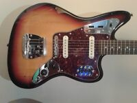 Squier Vintage Modified Jaguar as new with upgrades