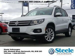 2015 VOLKSWAGEN TIGUAN Comfortline - Off lease, Certified, Low R