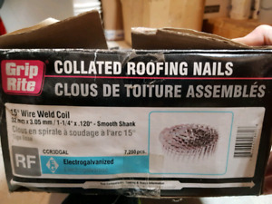 """1-1/4"""" collated roofing nails (approx qty 4,800)"""