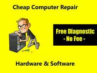 - Cheap Computer Repair SERVICE - FREE Diagnose -