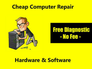 - Cheap Computer Repair SERVICE - FREE Diagnose -