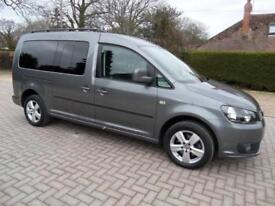 Volkswagen Caddy Maxi Life AUTOMATIC 5 seat Wheelchair Accessible WAV Car 148bhp