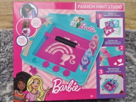Barbie Fashion Print Studio T.Shirt Printing Creative Kit NEW