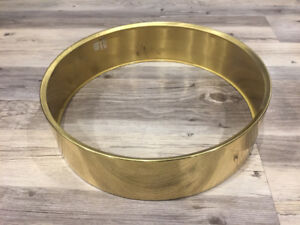 "3.5""x14 Pearl Free Floater Brass Shell"