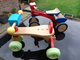2 x YOUNG CHILDREN'S WOODEN TRICYCLES
