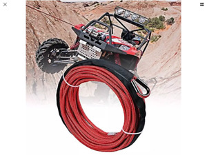 "New 1/4""x50' Synthetic Winch Rope With Rope Stopper Only $55"