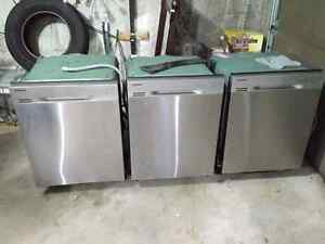 3 Samsung Stainless Steel Dishwashers