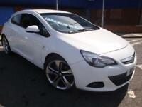 13 VAUXHALL ASTRA GTC SRI CDTI DIESEL COUPE 163BHP *HALF LEATHER*WHITE*