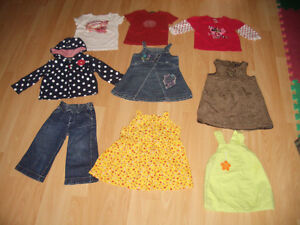 LOT - 17 - items of clothes for FILLE - Girl ----- size 12 - 18