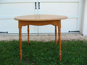 Round Maple Table