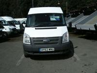 2012/62 FORD TRANSIT T330 125 EURO 5 LWB MED/ROOF FWD 2.2TDCI 6 SPD DIESEL VAN
