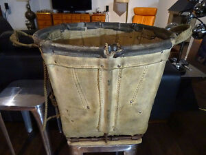 INDUSTRIAL CHIC antique LAUNDRY MAIL SHIPPING CART BASKET Turner