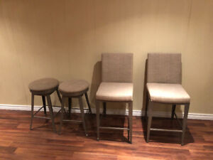 High top chairs and bar stool sold pending