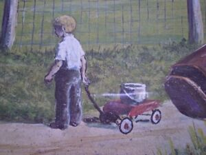 """Roger Witmer """" Little Red Wagon """" Limited Edition Print Kitchener / Waterloo Kitchener Area image 8"""