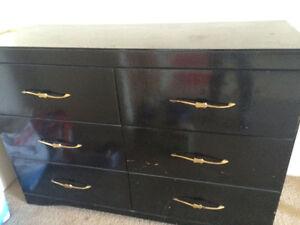 Black dresser one month old
