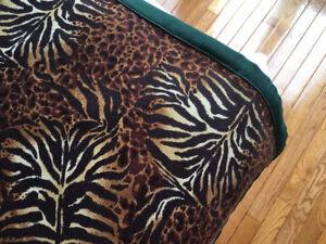 Twin Safari Cotton Bedspread - Custom Made