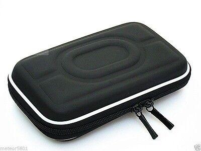 Black Hard Carry Case Pouch Bag Zipper Pouch 2.5