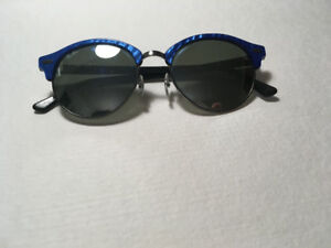 Ray Ban Clubround Mirrored Sunglasses in Blue Waves