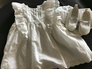 Baby Girls White dress and shoes