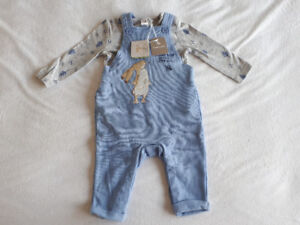 NWT Tu, 'Guess How Much I Love You' Coverall & Bodysuit 3-6m