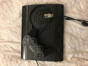 PS3 with wireless controller and charger