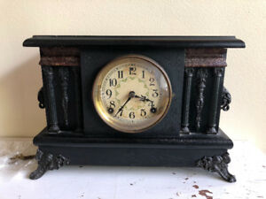 8 day, Half hour strike, cathedral, antique mantle clock