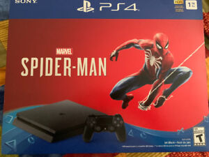 PS4 for sale, includes Spider-Man game