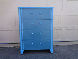 chalk Painted refinished dresser