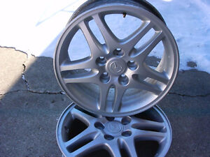 TWO 16 inch ALLOY RIMS for MAZDA 3 / 5
