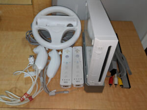 Nintendo Wii Value Pack (2 Controllers + Wii Wheel + Dance Pad)